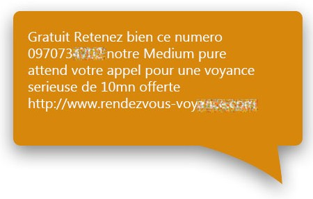 Exemple message SMS_4